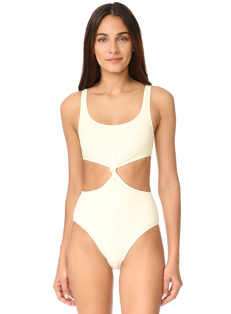 Solid & Striped The Bella Knot Front One-Piece Swimsuit