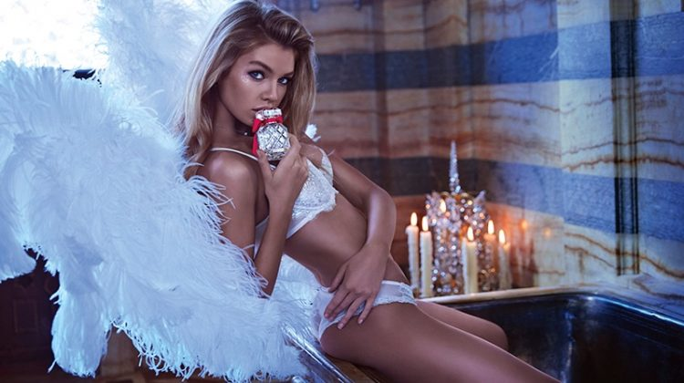 Stella Maxwell Lights Up Victoria's Secret 'Paris' Fragrance Campaign