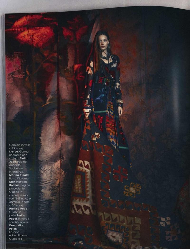 Thairine Garcia stars in Glamour Italy's November issue