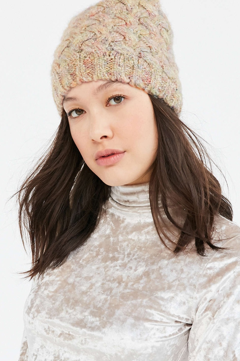 Urban Outfitters Slouchy Crosshatch Knit Beanie