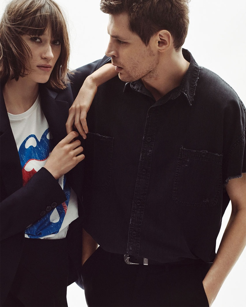 Zara spotlights rock and roll style with The Rolling Stones merchandise