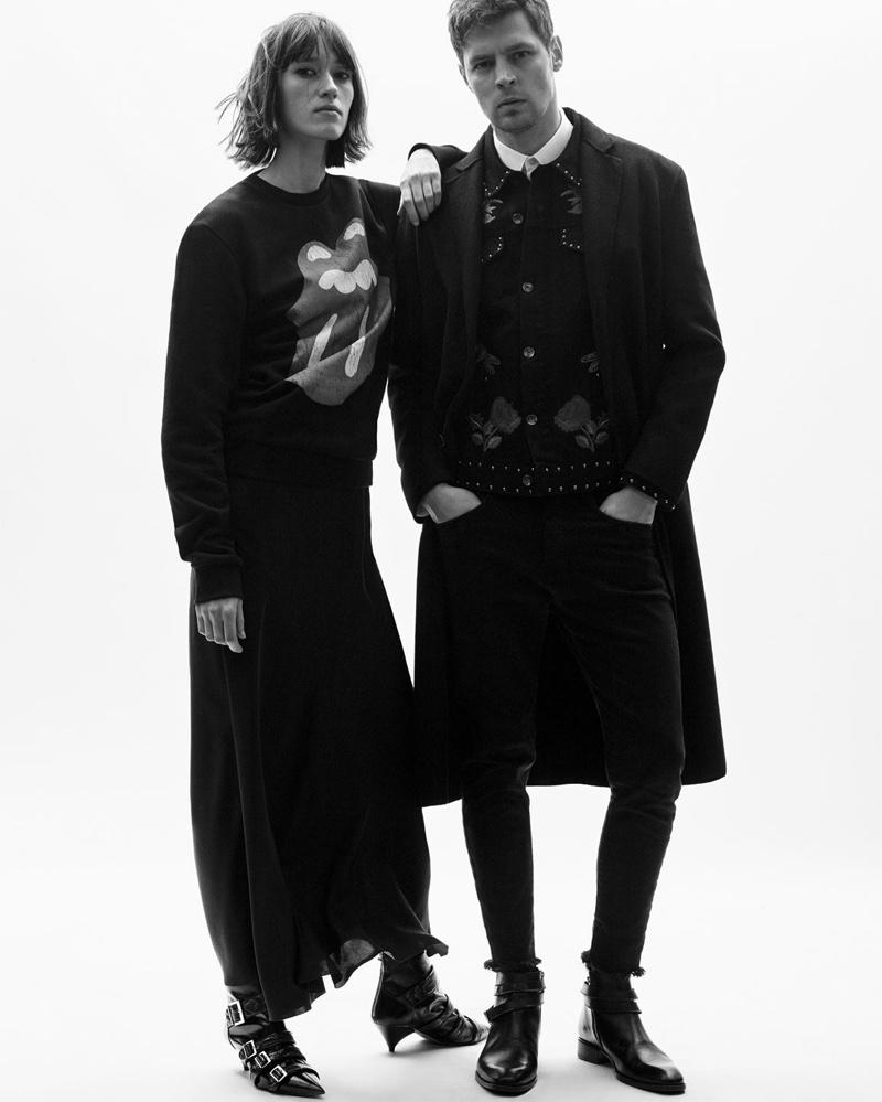 Paint it black - Zara features sweatshirts and sharp tailoring