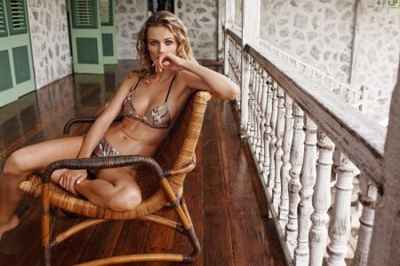 Edita Vilkeviciute Poses in Zimmermann's Lounge-Worthy Resort Collection