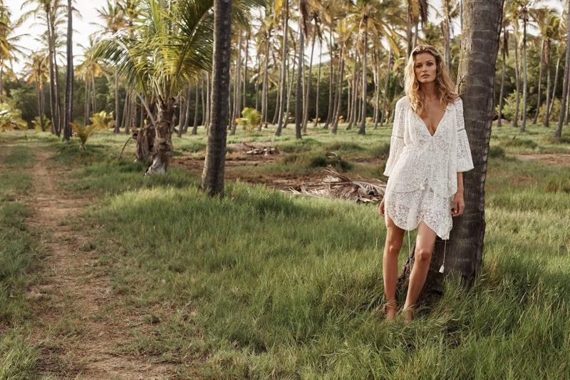 Zimmermann features Gossamer Scallop Short Dress in resort 2017 collection