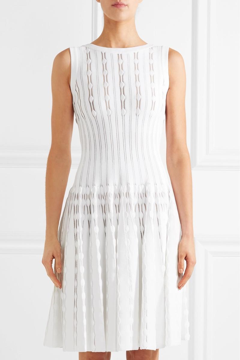 Alaïa Laser Cut Knitted Mini Dress