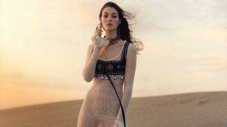 Vittoria Ceretti stars in Alexander McQueen's spring-summer 2017 campaign