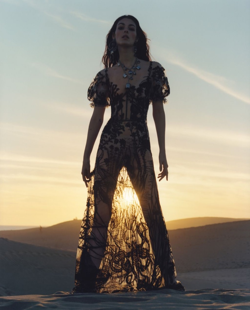 Alexander McQueen sets spring 2017 advertising campaign on African sand dunes