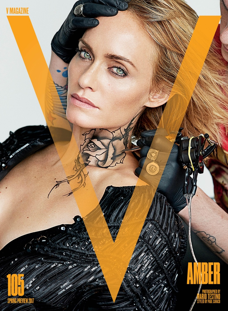 Amber Valletta on V Magazine Spring Preview 2017 Cover