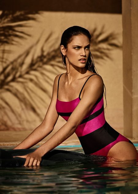 Dalianah Arekion models Sara one-piece from Andres Sarda Swimwear's spring 2017 collection