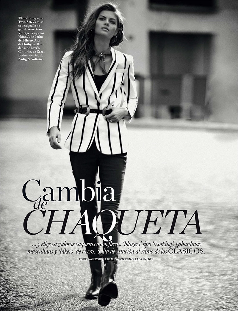 Anja Voskresenska stars in ELLE Spain's February issue