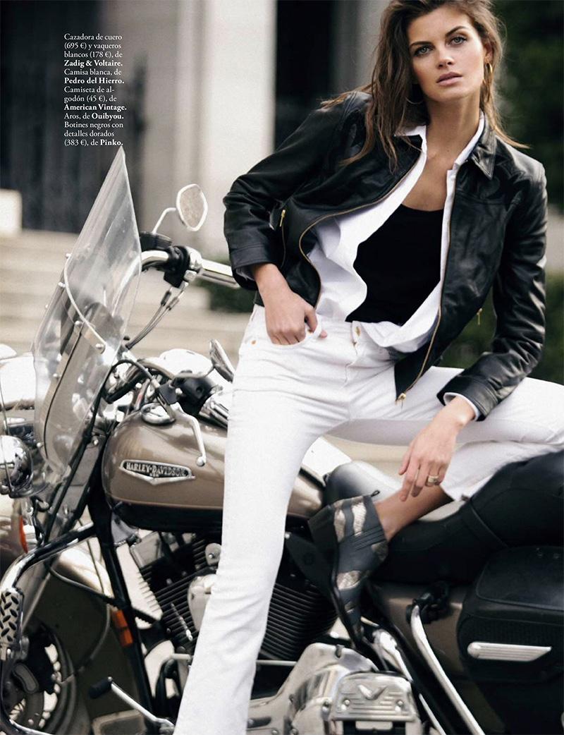 Anja Voskresenska Models Chic Statement Jackets for ELLE Spain