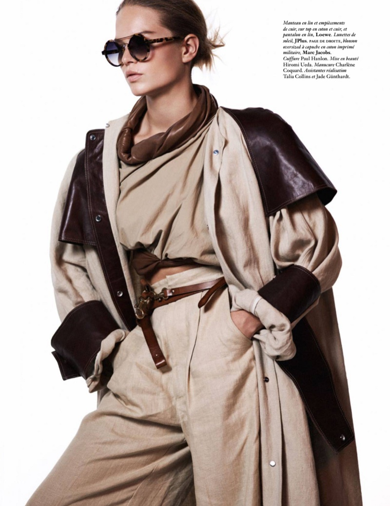 Anna Ewers Takes on Military Inspired Looks for Vogue Paris
