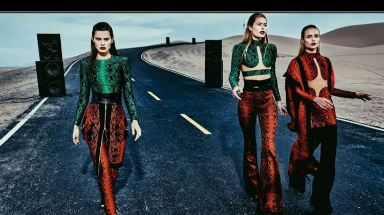 Isabeli Fontana, Doutzen Kroes and Natasha Poly star in Balmain's spring-summer 2017 campaign