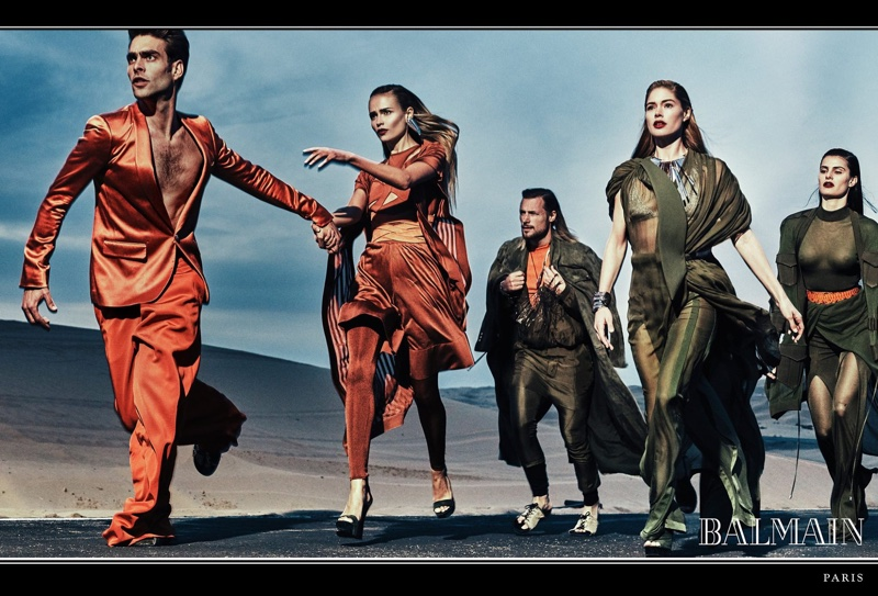 An image from Balmain's spring 2017 campaign