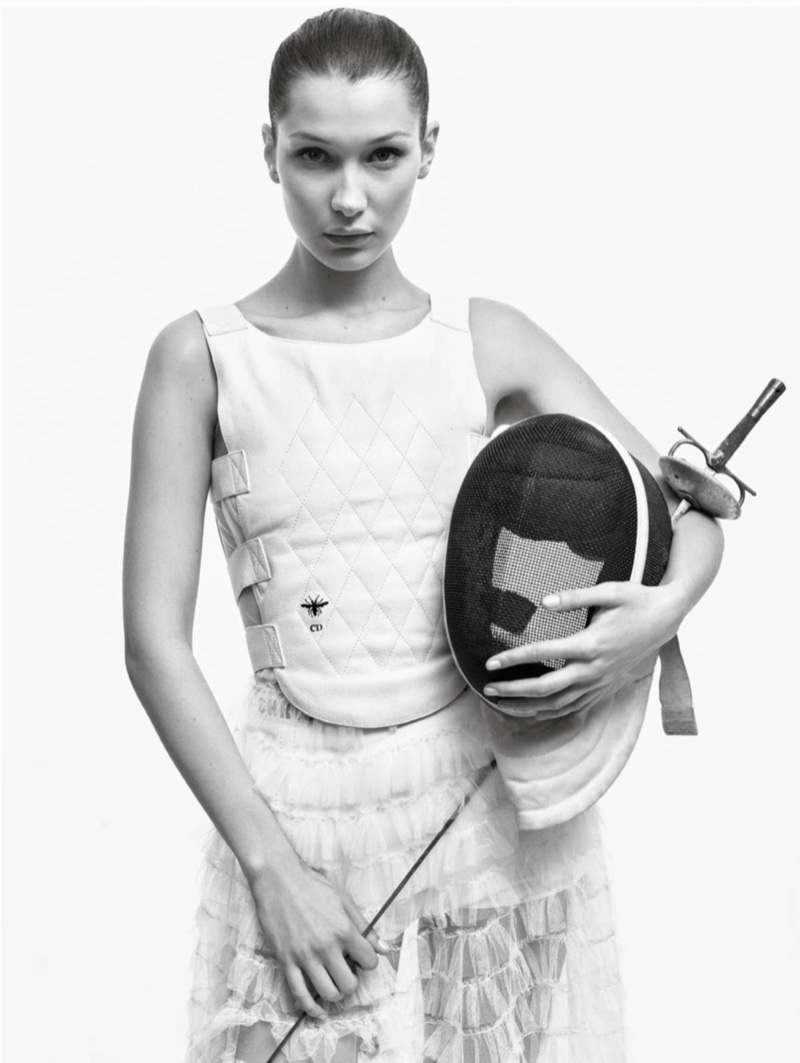 Bella Hadid Looks Divine In Dior For Vogue Paris Fashion