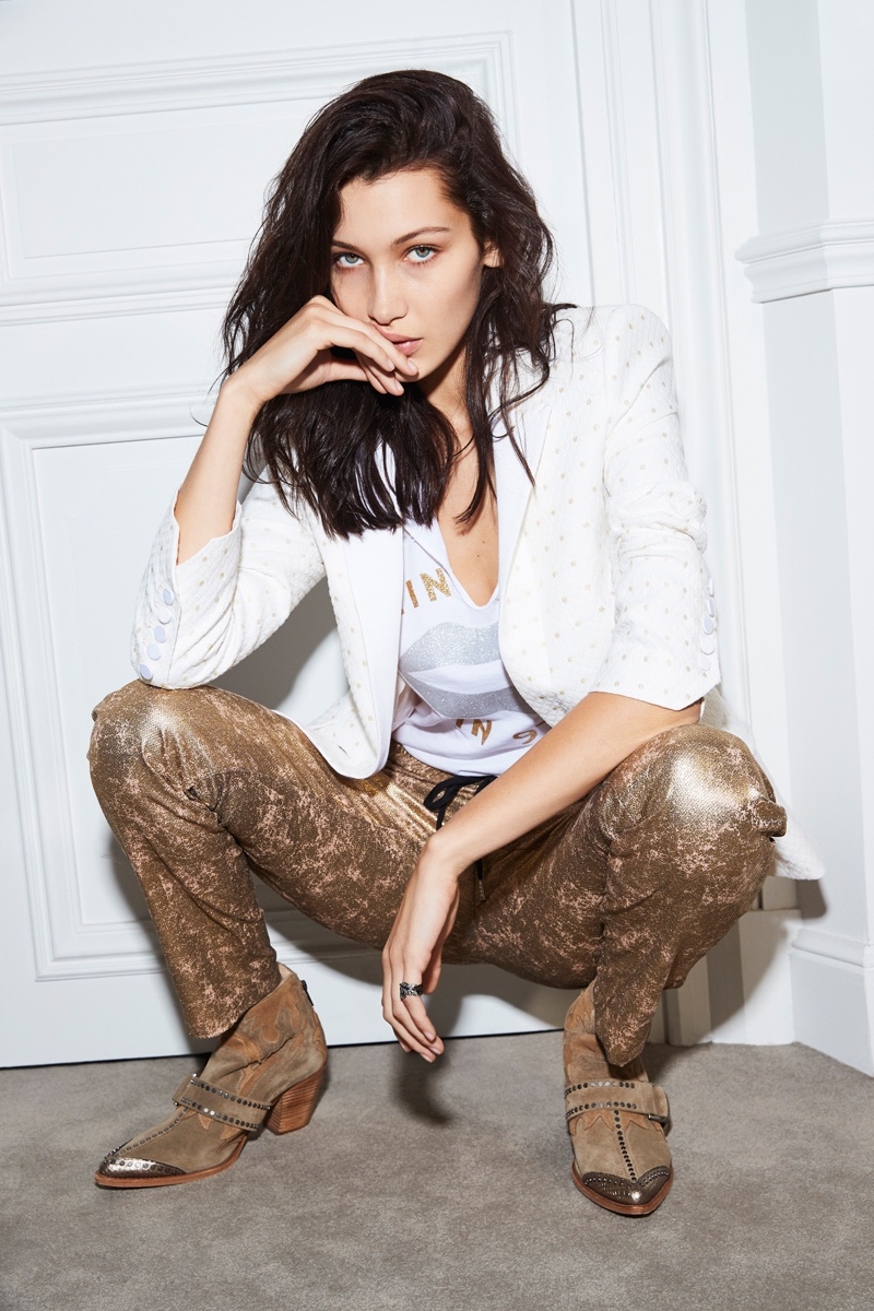 An image from Zadig & Voltaire's spring 2017 campaign starring Bella Hadid