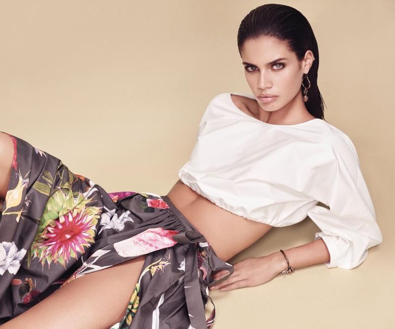 Sara Sampaio stars in Blumarine's spring-summer 2017 campaign
