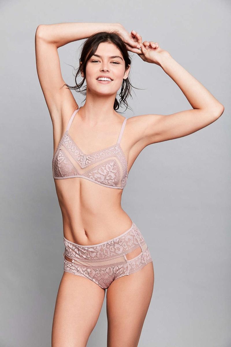 Calvin Klein Tease Bralette & High-Waisted Hipster in Rose