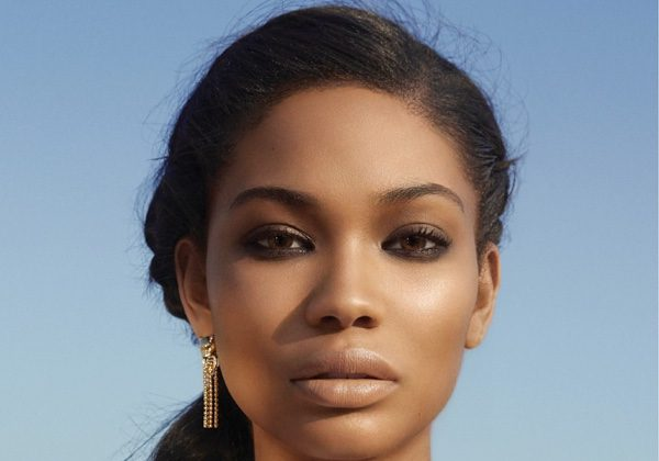Getting her closeup, Chanel Iman wears a fishtail braid