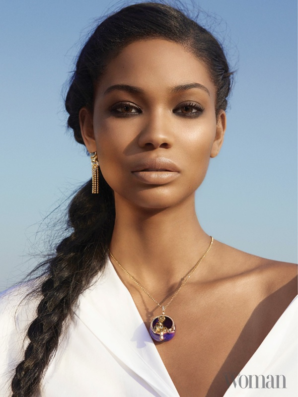 Chanel Iman Models Statement Style for Emirates Woman