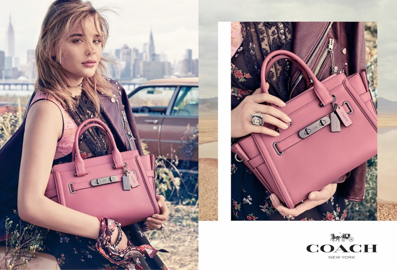Chloe Grace Moretz stars in Coach's spring-summer 2017 campaign