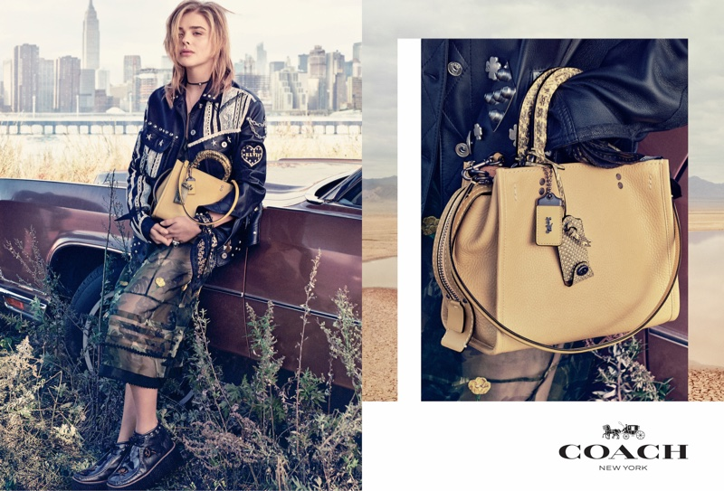 Photographed by Steven Meisel, Chloe Grace Moretz stars in Coach's spring 2017 campaign