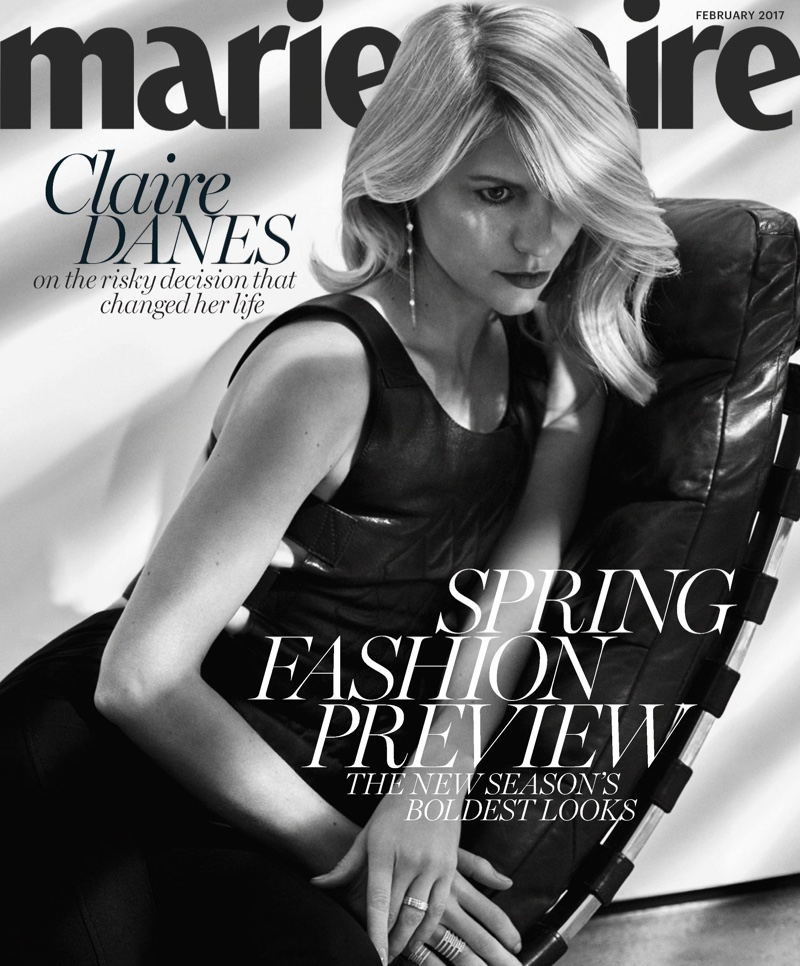 Actress Claire Danes poses in cutout dress