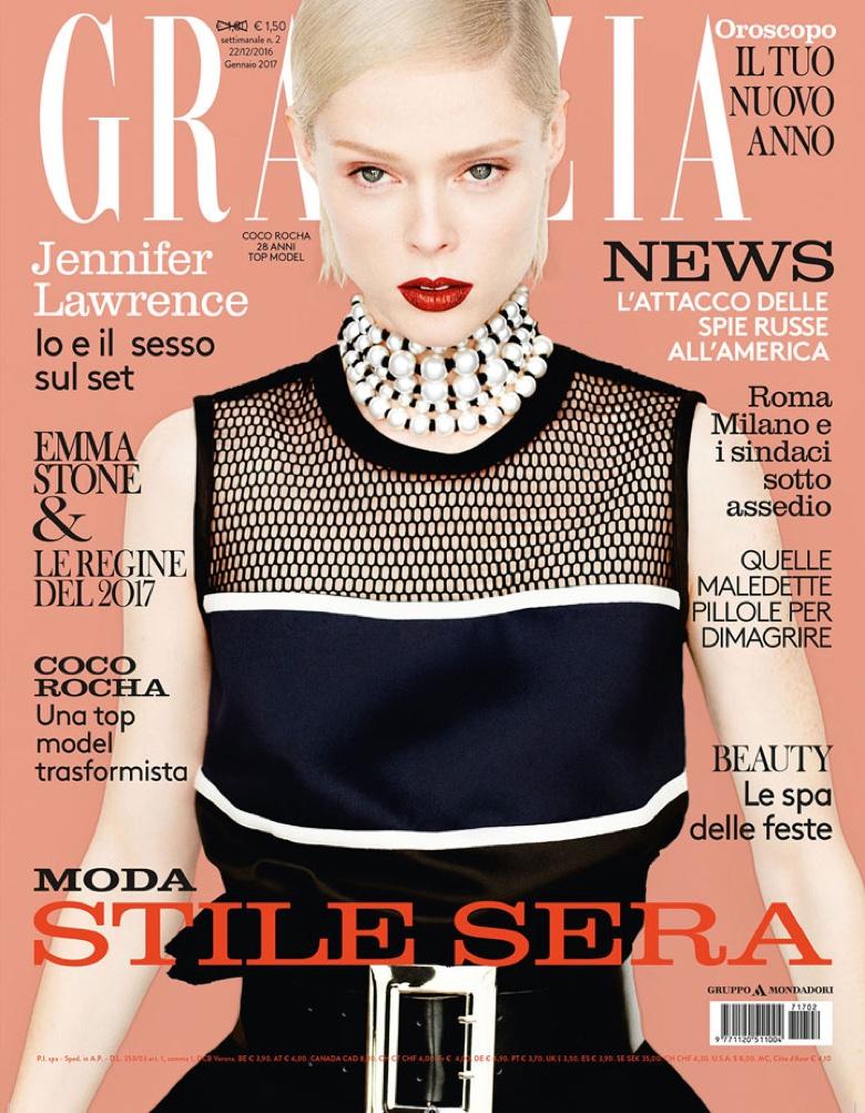 Coco Rocha on Grazia Italy December 22nd, 2016 Cover