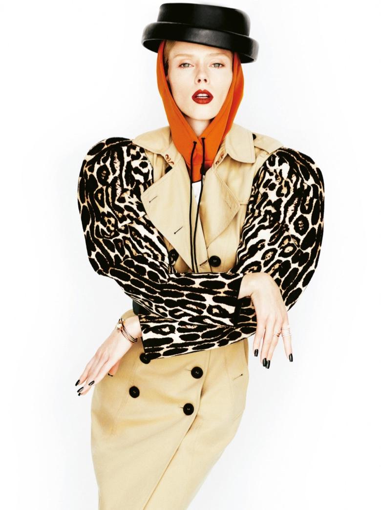 Coco Rocha Gets Glam in Winter Coats for Grazia Italy