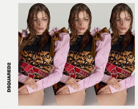 Gigi Hadid Has Us Seeing Double in DSquared2's Spring 2017 Campaign