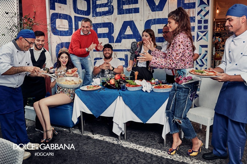 Dolce & Gabbana sets spring 2017 advertising campaign in Capri, Italy