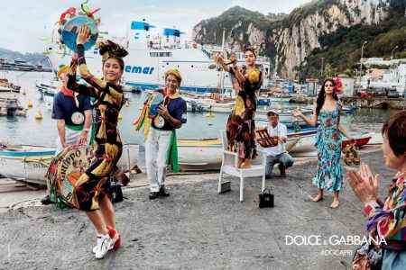 Zendaya, Thylane Bondeau and sOnia Ben Ammar embrace colorful prints in Dolce & Gabbana's spring 2017 campaign
