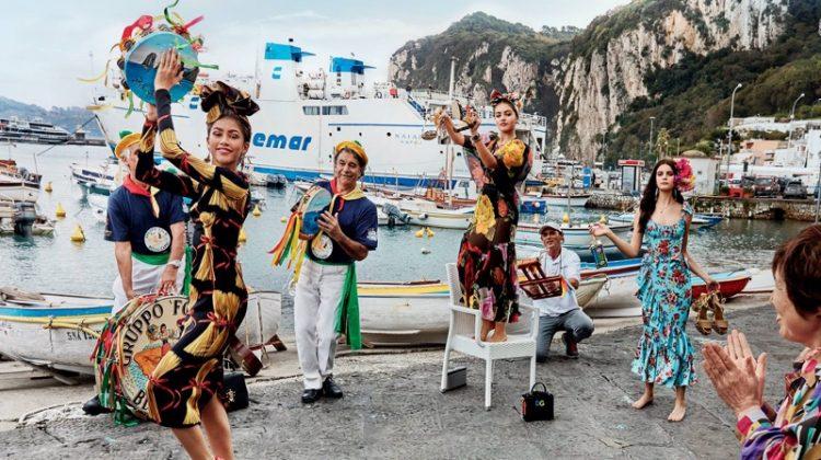 Zendaya, Thylane Bondeau and sOnia Ben Ammar embrace colorful prints in Dolce & Gabbana's spring 2017 campaign