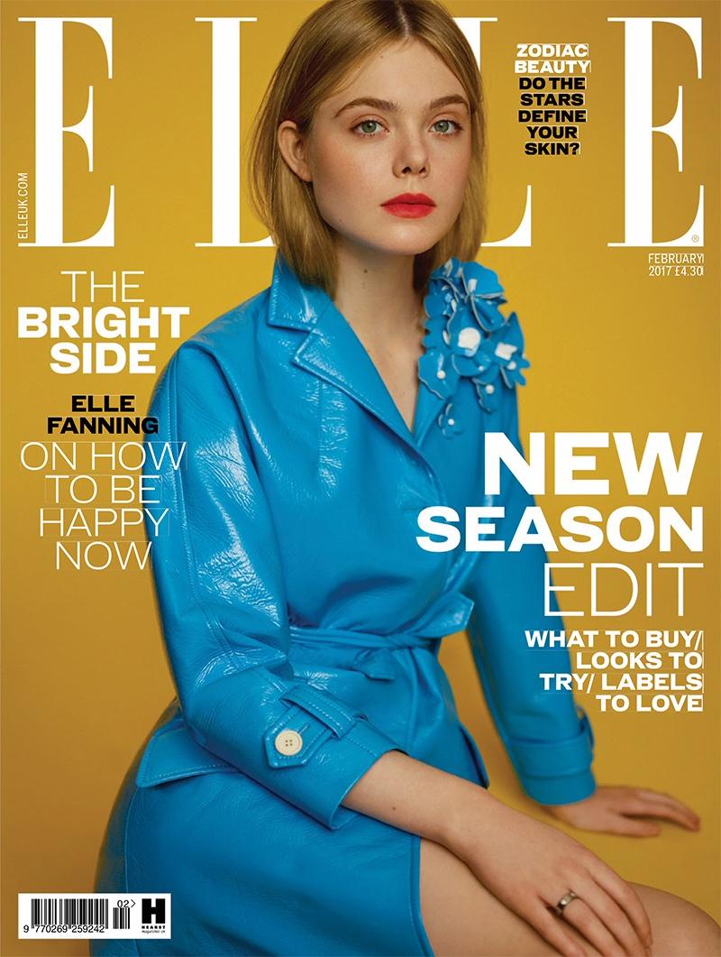 Elle Fanning on ELLE UK February 2017 Cover