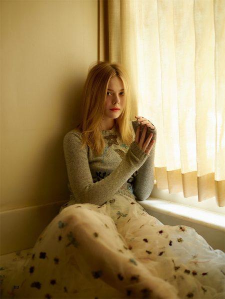 Elle Fanning Charms in Enchanting Looks for ELLE UK