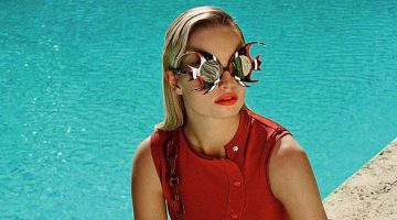 Maud Welzen Models Retro Poolside Styles for ELLE Germany