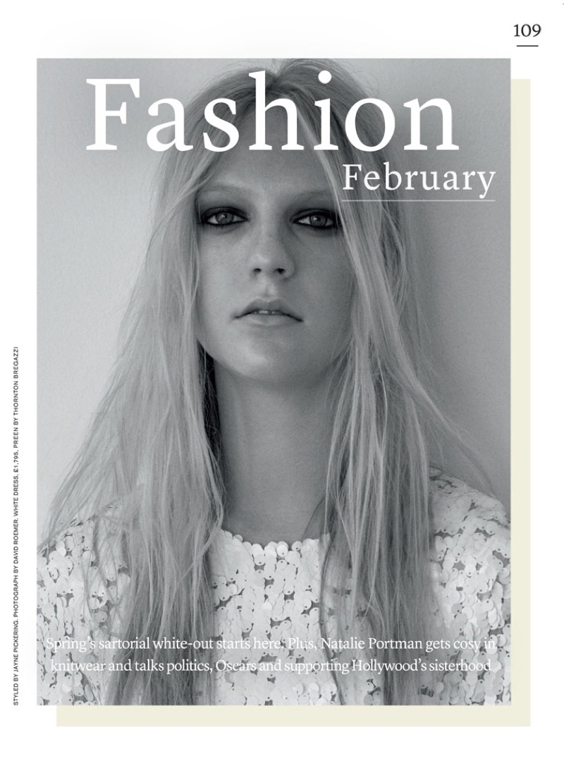 Emilie Evander stars in Marie Claire UK's February issue