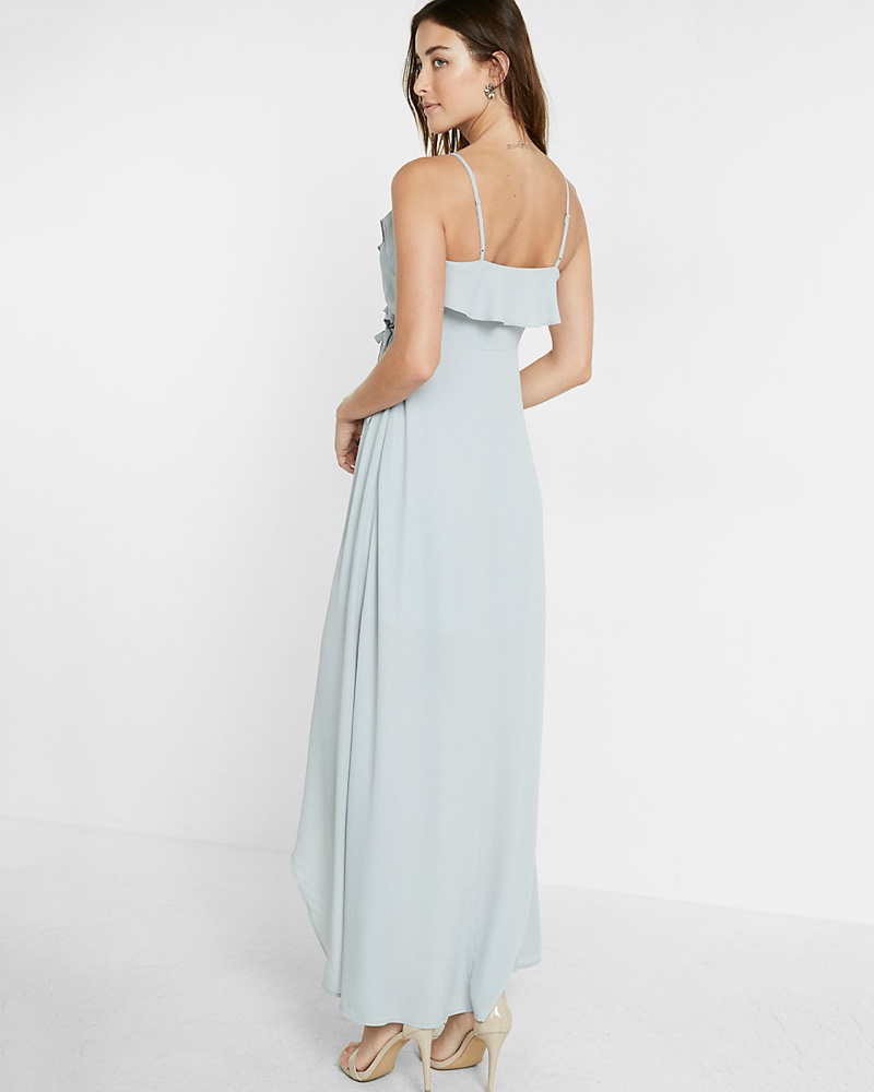 The dress express - The Ruffle Wrap Front Maxi Dress Is Perfect For Parties And Weddings