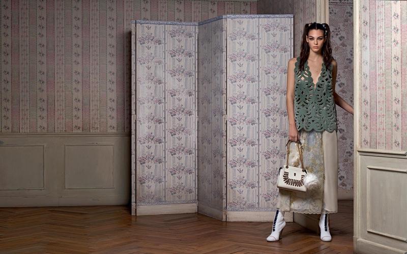 Vittoria Ceretti stars in Fendi's spring-summer 2017 campaign