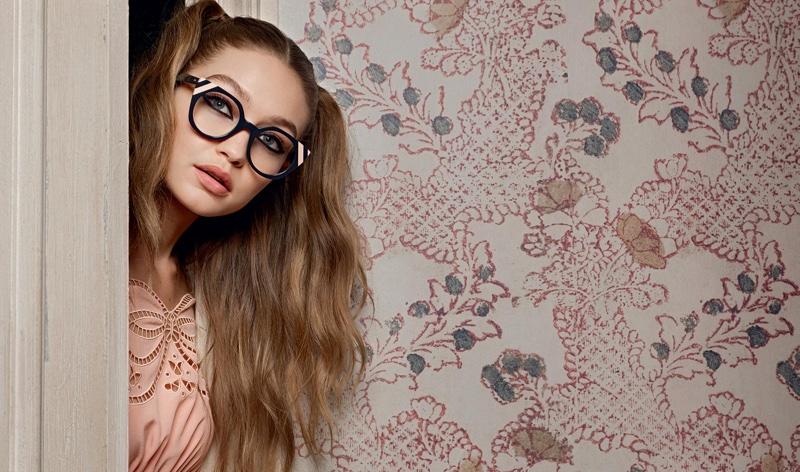 Gigi Hadid sports designer frames for Fendi's spring 2017 campaign
