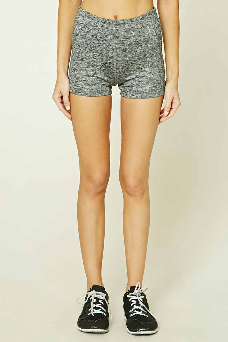 Forever 21 Active Marled Knit Shorts
