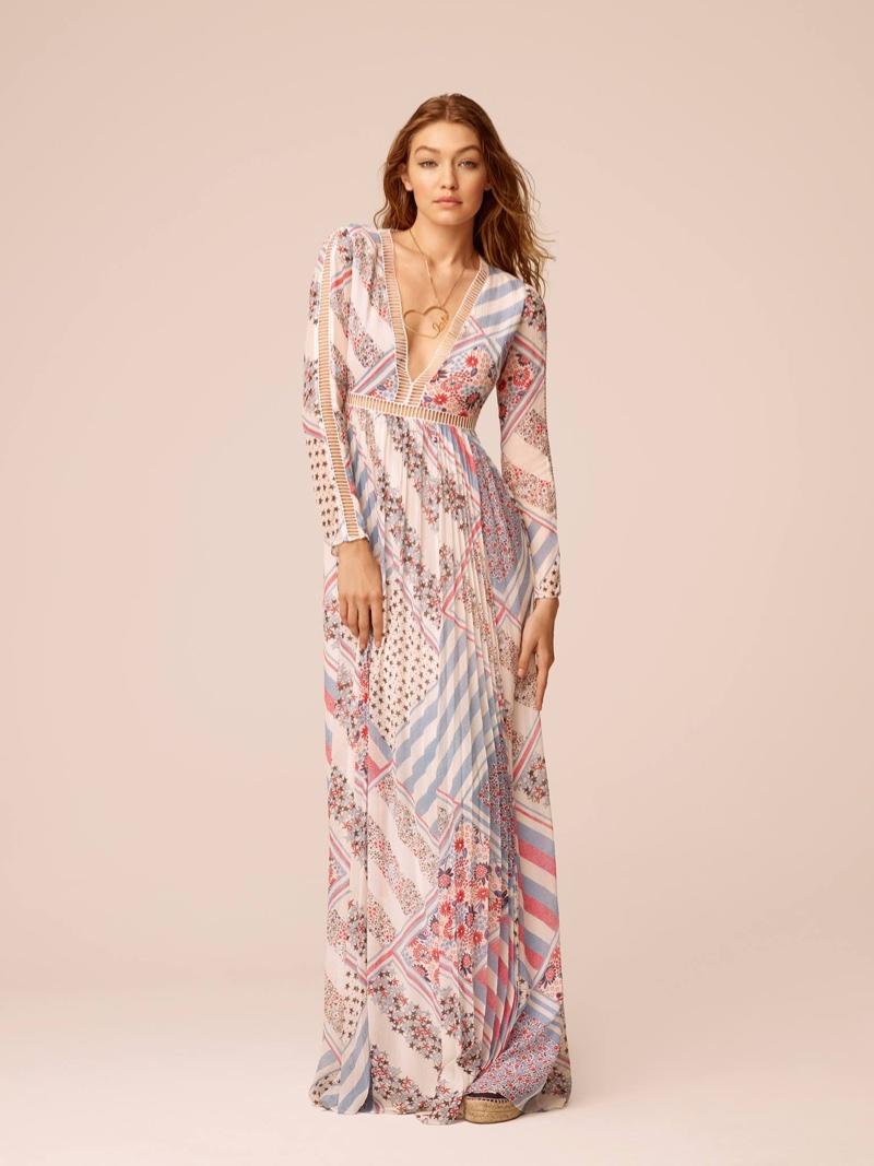 Printed maxi dress from Gigi x Tommy Hilfiger Spring 2017
