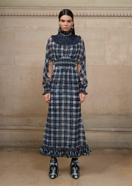 Kendall Jenner wears plaid gown from Givenchy Haute Couture's spring 2017 collection
