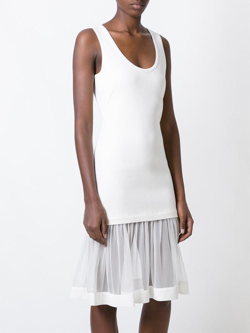 Givenchy Sheer Skirt Tank Dress