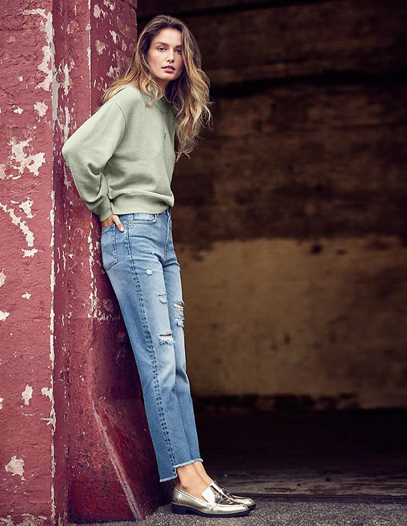 H&M Knit Sweater and Straight Regular Relaxed Jeans