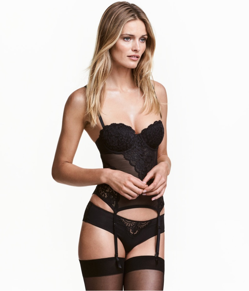 H&M Mesh and Lace Bustier