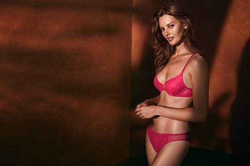 H&M Lace Push-up Bra and Lace Brazilian Briefs
