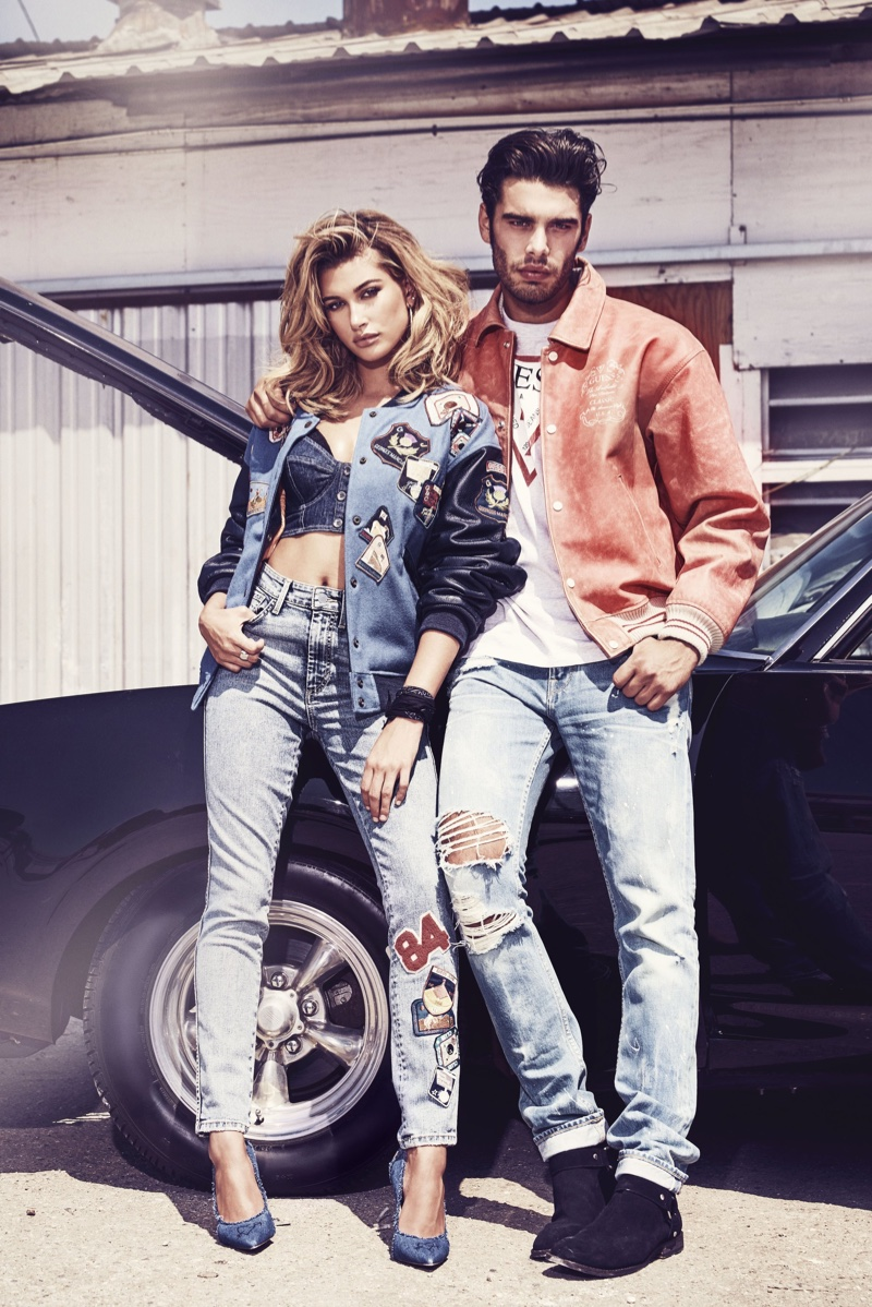 Model Hailey Baldwin smolders in Guess' 35th anniversary campaign