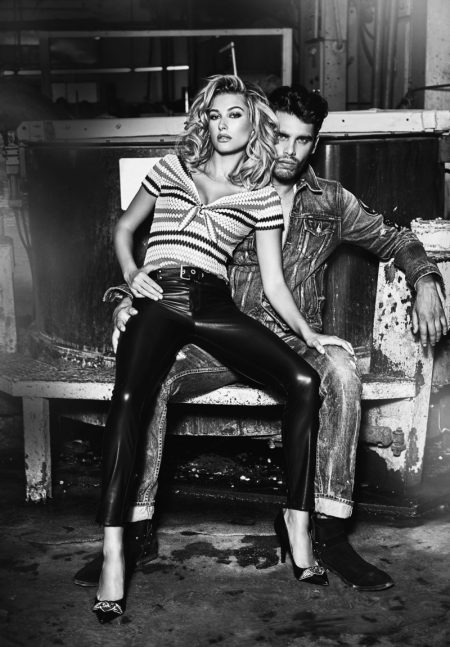 Hailey Baldwin Smolders in Guess' 35th Anniversary Campaign