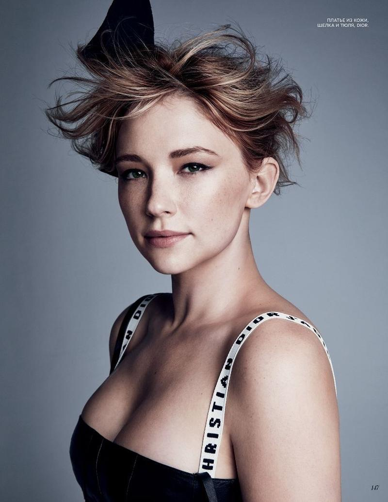 Getting her closeup, Haley Bennett wears Dior dress